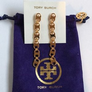 Nwot Tory Burch Gemini link long earrings